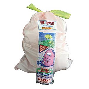 Sacchi spazzatura Rolsac con maniglie 30 L - conf. 15