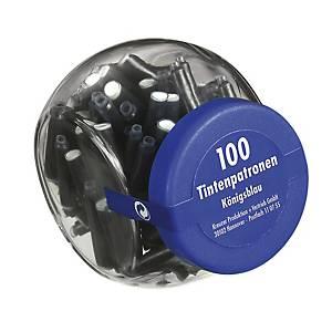 Cartouche d encre bleue pour stylo à plume Pelikan TP/6, boîte de 100 cartouches