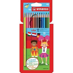 Stabilo Color crayons de couleurs assorties - le paquet de 12