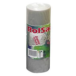 Sacchi spazzatura Rolsac 9 L trasparente - rotolo 30