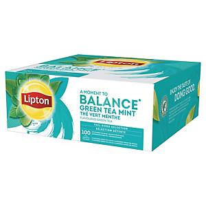 Lipton tea bags Green mint - box of 100