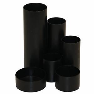Multi-Köcher, 6-Fächer, schwarz