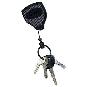Porte-clés Rieffel KB Super 48, chaîne coul. 120 cm, clip de ceinture, noir