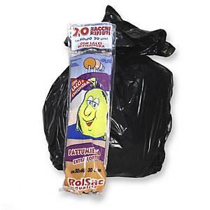 Sacchi spazzatura Rolsac 30 L nero - conf. 20