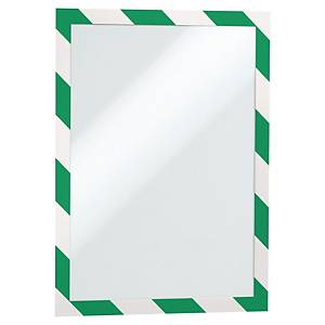 Durable Duraframe® self-adhesive frame, A4, white/green, 2 pieces