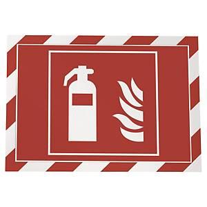 Wandzeigetasche Durable Duraframe, A4, selbstklebend, rot/weiss