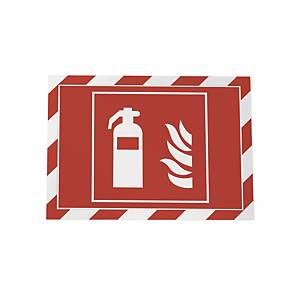 Selvklebende lomme Durable Duraframe Security, A4, rød/hvit, pakke à 2 stk.