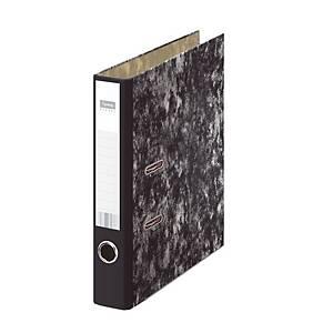 Pasta de arquivo alavanca Lyreco Budget - A4 - lombada 50 mm - preto marmoreado