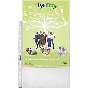 Pack de 100 fundas multitaladro Lyreco - folio - PP rugoso - 55 μ