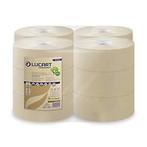 Carta igienica in rotolo 2 veli Econatural Lucart per Mini Jumbo - conf. 12