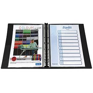 Bantex Refillable Clear Book 40 Pockets A4 Black