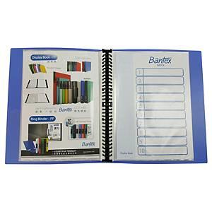 Bantex Refillable Clear Book 40 Pockets A4 Blue