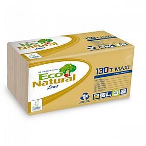 Paquete 500 servilletas de papel Lucart Maxi - 300 x 300 mm - habana
