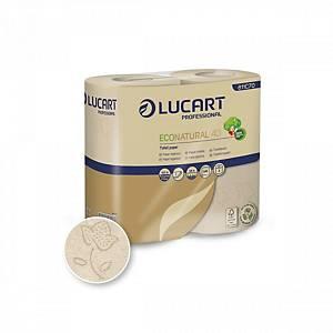 Pack de 4 rolos de papel higiénico Lucart EcoNatural - Folha dupla - 44 m