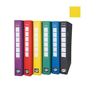 Bantex C Series Ring Binder With Wireclip 25mm Yellow