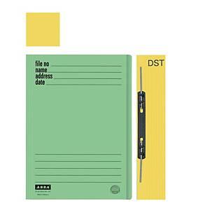 ABBA 102DST Manilla Card Folder Yellow