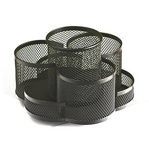 Sakota dróthálós asztali irodaszertartó, fekete