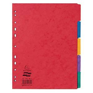 Exacompta Europa Pressboard A4 Dividers, 5 Part, Assorted Colours