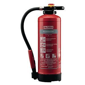 Feuerlöscher Gloria P6PRO, Pulver-Auflade-Löscher, für Industriebetriebe, 6kg