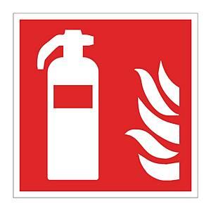 Sign. de lutte contre l'incendie, extincteur, luminescence de longue durée