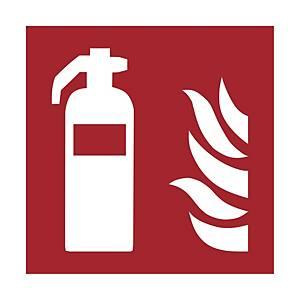 Brandschutzzeichen FEUERLÖSCHER, Kunststoff sk. lang nachleuchtend, 148x148 mm