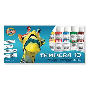 Temperové barvy 16 ml, balení 10 ks, různé barvy