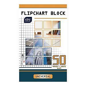 Blok do flipcharta INTERDRUK gładki, 50 kartek