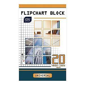 INTERDRUK FLIPCHART PAD SQRD 20SHT
