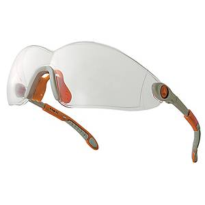 Deltaplus Vulcano2 Safety Glasses Orange & Grey