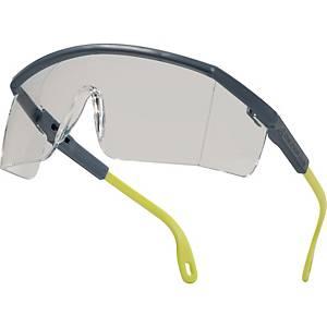 Deltaplus Kilimandjaro PC veiligheidsbril, grijs/geel, heldere lens
