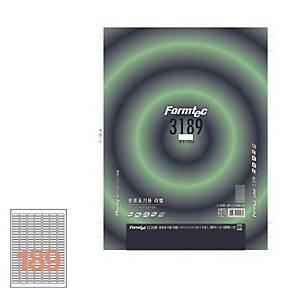 폼텍 분류용라벨 LS-3189 25.4X10MM 100매
