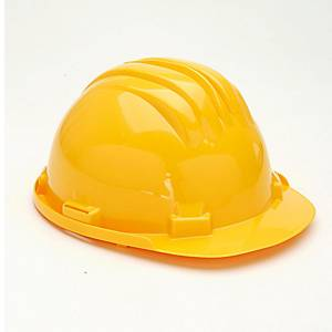 CLIMAX 5RS SAFETY HELMET W/BRIDLE YELLOW