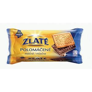 Zlaté polomáčené s mléčnou čokoládou 100 g
