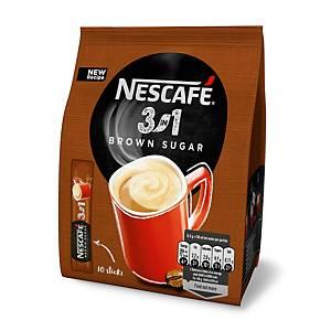 Nescafé 3 in 1 mit braunem Zucker 16.5g, 10 Sticks