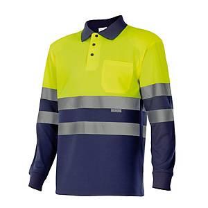 Polo de manga comprida alta visibilidade Velilla 175 - amarelo - tamanho XL
