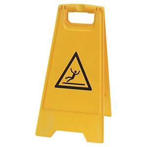 Panneau avertisseur Viso - sol glissant - jaune