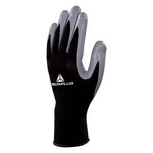 VE712GR nitril kesztyű, fekete/szürke, méret: 10