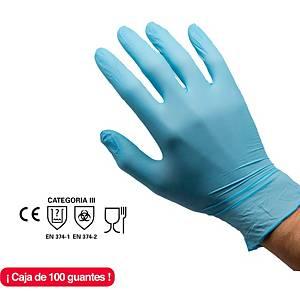 Caja de 100 guantes desechables Rubberex NIT100.B.PF - nitrilo - azul - talla 8