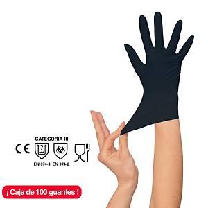 Caja de 100 guantes desechables Rubberex NIT100.BK.PF - nitrilo - talla 9