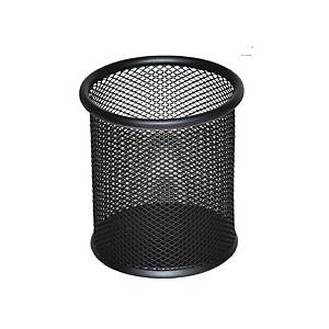 D.RECT PUNCHED METAL PENCIL CUP BLK