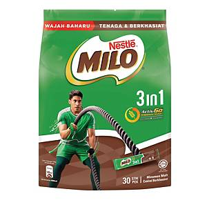 Milo Fuze 3 in 1 Sticks Nestle 33g - Pack of 30