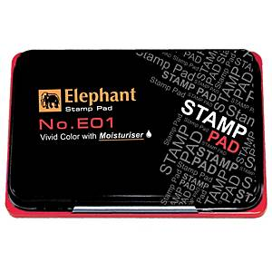 ELEPHANT E01 STAMP PAD 8CM X12.5CM RED