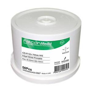 Bobina de 50 CD-R Falcon para impresora de tinta - 700 Mb