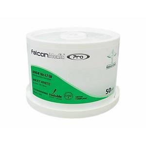 Bobina de 50 DVD-R Falcon para impressora a jato de tinta - 4,7GB