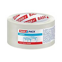 Balicí páska tesapack® BASIC, 50 mm x 66 m, průsvitná