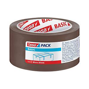 Balicí páska tesapack® BASIC, 50 mm x 66 m, hnědá