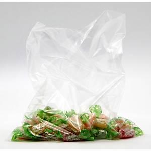 Pack de 500 sacos de plástico sem fecho - 90 x 250 mm - transparente