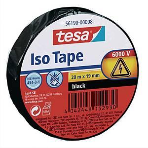 Fita isolante Tesa - 19 mm x 20 m - preto