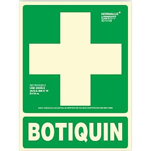 Placa  botiquin  - PVC fotoluminiscente - 297 x 224 mm