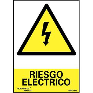 Placa  riesgo electrico  - PVC - 297 x 210 mm